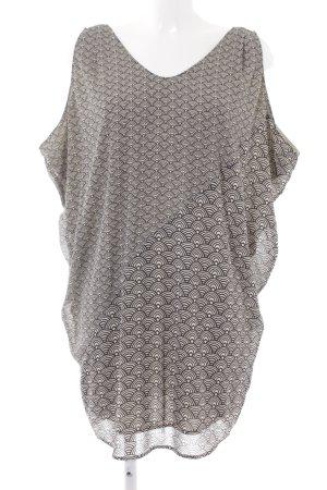 Esprit Volantkleid wollweiß-schwarz abstraktes Muster Casual-Look