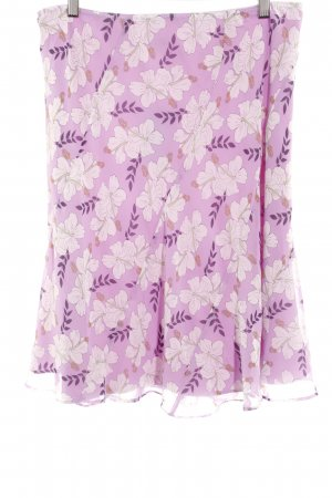 Esprit Falda con volantes estampado floral estilo romántico