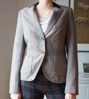 Esprit warmer Blazer hellbraun Tweed Stoff gewebt Gr. 38