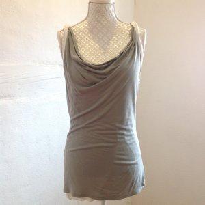 Esprit Camisa con cuello caído color plata-blanco