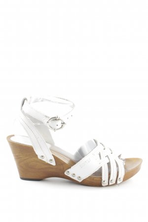 Esprit Wedges Sandaletten weiß-bronzefarben Casual-Look