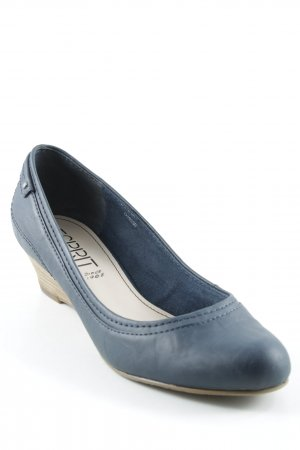 Esprit Wedge Sandals dark blue-light brown elegant