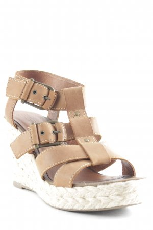 Esprit Wedge Sandals light brown beach look