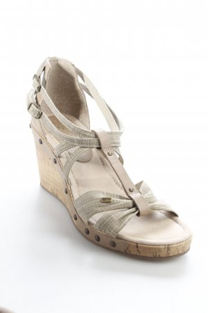 Esprit Wedges Sandaletten hellbraun Street-Fashion-Look