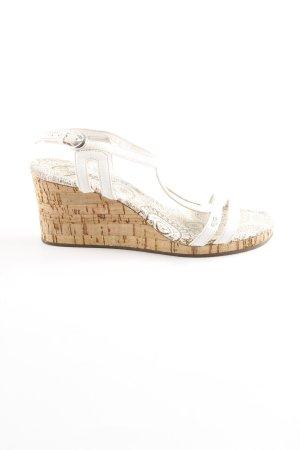 Esprit Wedges Sandaletten weiß-beige Gypsy-Look