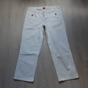 Esprit 7/8 Length Trousers white cotton