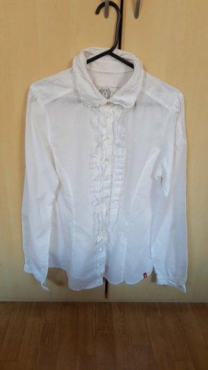 Esprit Weißes Hemd mit Spitze, Gr.M