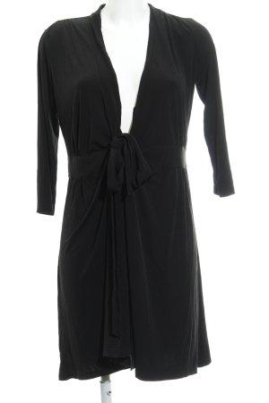 Esprit Vestido cruzado negro look casual