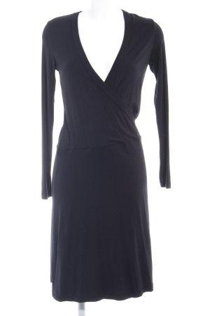 Esprit Vestido cruzado negro elegante