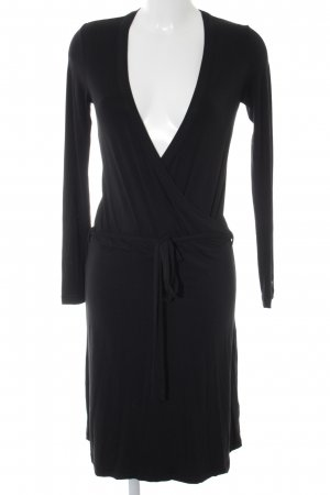 Esprit Vestido cruzado negro estilo fiesta