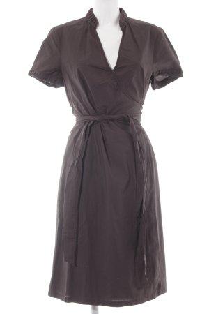 Esprit Vestido cruzado marrón-negro estilo sencillo