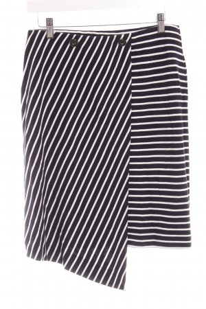 Esprit Jupe portefeuille bleu foncé-blanc motif rayé style décontracté