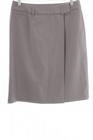 Esprit Wraparound Skirt grey pinstripe business style