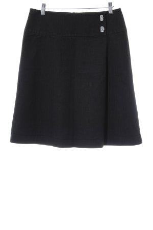 Esprit Jupe portefeuille noir-gris foncé motif rayé style d'affaires