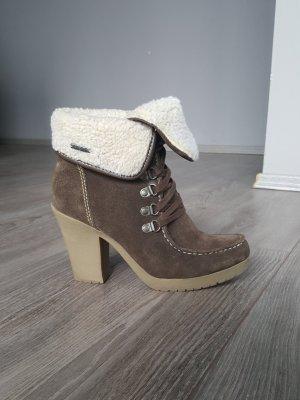 ESPRIT Wildleder Boots Gr 38 Ankle Boots Stiefeletten Stiefel