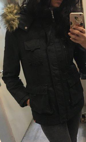 Esprit Winterjacke Jacke schwarz Gr S  mit innen Weste