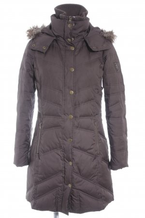 Esprit Wintermantel dunkelbraun Steppmuster Street-Fashion-Look