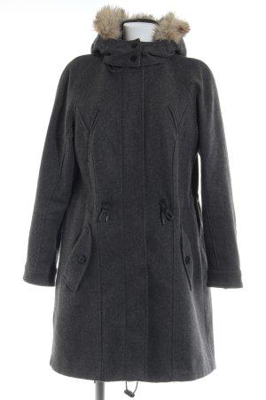 Esprit Cappotto invernale grigio scuro puntinato stile casual