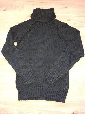 Esprit Pull-over à col roulé noir coton