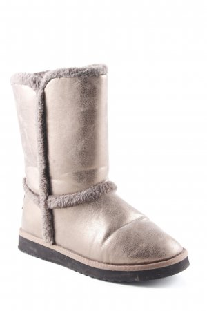 Esprit Winterstiefel bronzefarben-anthrazit Glanz-Optik