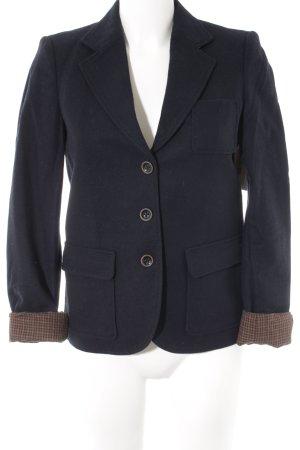Esprit Woll-Blazer dunkelblau Casual-Look