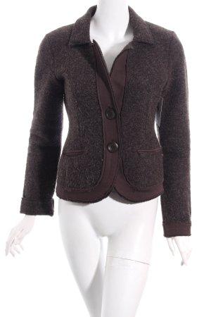 Esprit Woll-Blazer dunkelbraun Street-Fashion-Look