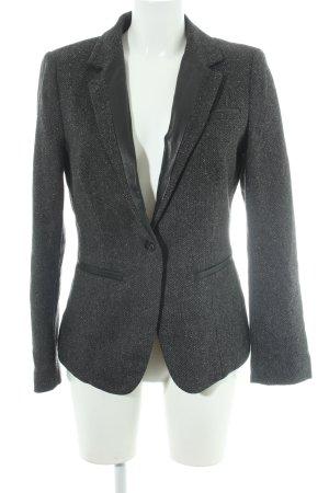 Esprit Blazer in lana grigio scuro-nero Stampa suggestiva stile casual