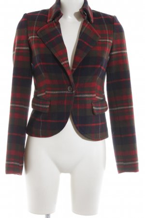 Esprit Wool Blazer blue-red check pattern business style