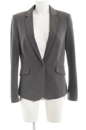 Esprit Blazer in lana grigio-grigio scuro puntinato stile casual
