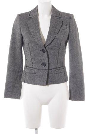 Esprit Blazer in lana nero-grigio motivo a zig-zag stile professionale