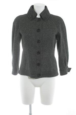 Esprit Blazer in lana nero-bianco sporco stile classico