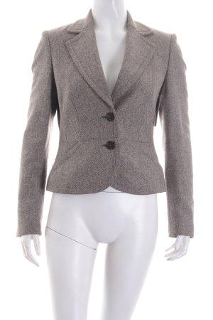 Esprit Woll-Blazer weiß-schwarz Fischgrätmuster klassischer Stil