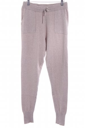 Esprit Woolen Trousers oatmeal-beige flecked athletic style