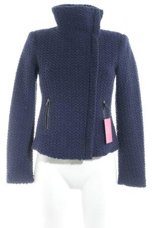 Esprit Wolljacke dunkelblau-schwarz Casual-Look