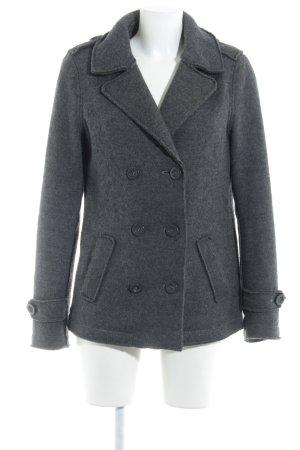 Esprit Giacca di lana grigio scuro stile da moda di strada