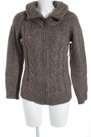 Esprit Wool Jacket grey brown cable stitch casual look