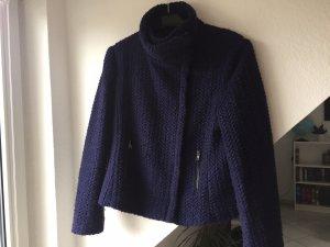 Esprit Chaqueta de lana azul oscuro Lana