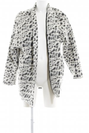 Esprit Giacca di lana nero-bianco Stampa leopardata stile classico