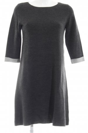 Esprit Wollkleid anthrazit Webmuster Casual-Look