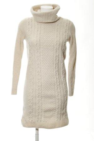 Esprit Wollen jurk licht beige kabel steek pluizig