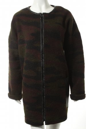 Esprit Wollmantel Camouflagemuster Casual-Look