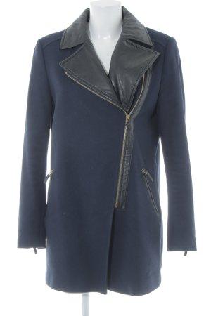 Esprit Wollmantel dunkelblau-schwarz Casual-Look