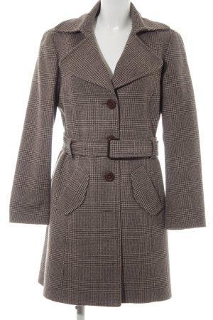 Esprit Abrigo de lana marrón grisáceo estampado a cuadros look «Brit»
