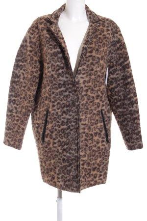 Esprit Wool Coat light brown-dark brown leopard pattern safari look