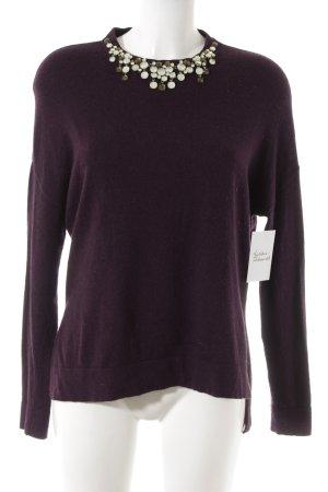 Esprit Wollpullover braunviolett Elegant