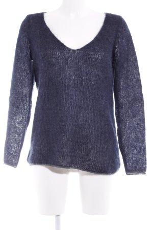 Esprit Pull en laine bleu foncé style décontracté