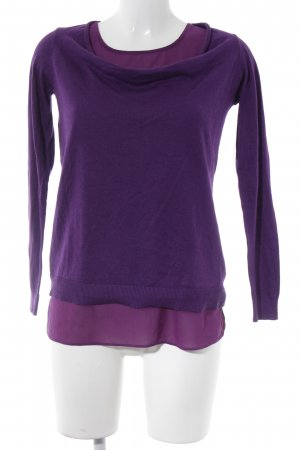 Esprit Wool Sweater lilac casual look