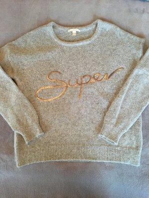 ESPRIT - Wollpullover mit Paillettenschriftzug