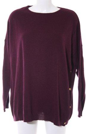 Esprit Pull en laine violet Motif de tissage style décontracté