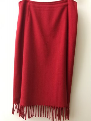 Esprit Wool Skirt dark red